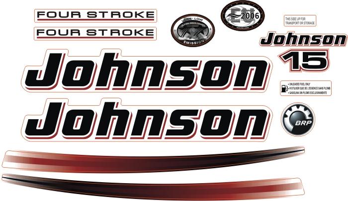 johnson 15 Hp Sticker